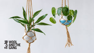 Sculpd x Wool and the Gang - Macrame Hanging Clay Planter Tutorial