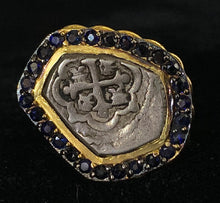 Load image into Gallery viewer, Mexico City Coin With Halo of Sapphires