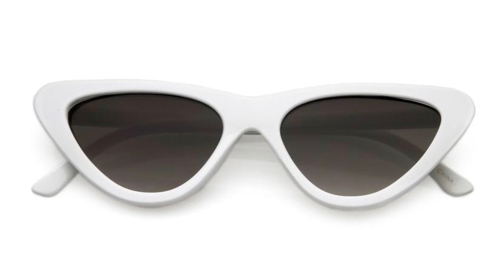 0475cb33ab WHITE CAT EYE SUNGLASSES – HER FAVORITE.