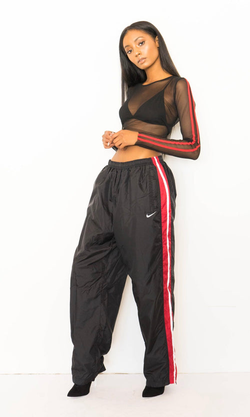 90'S NIKE STRIPED TRACK PANTS