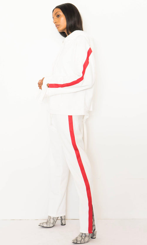 SPORTY STRIPED SWEATSUIT