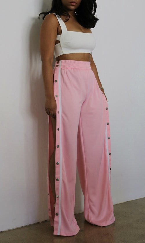 STAY READY TEAR AWAY PANTS (PINK)