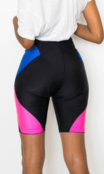 NEON NIKE DIAMOND BIKER SHORTS