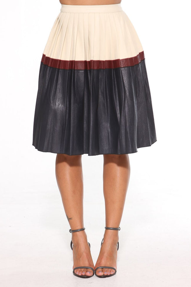 ALL FALL PLEATED MIDI SKIRT