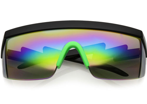 RETROACTIVE GOGGLE SUNGLASSES (BLK)