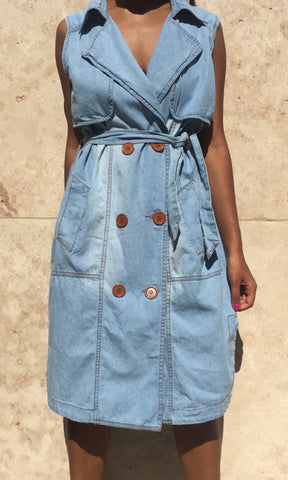 MAKING PLANS DENIM TRENCH