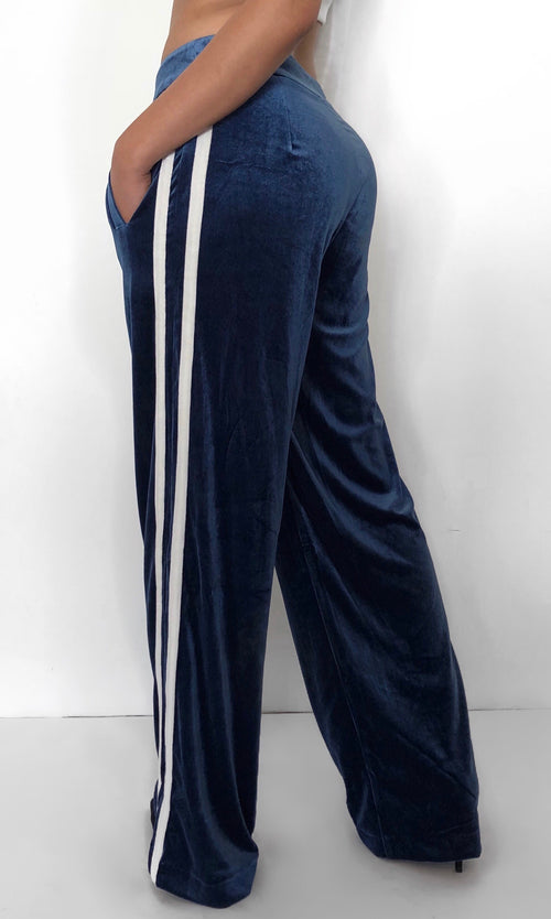 SILKY STRIPED TROUSERS