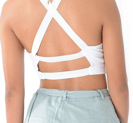 TOTALLY CROSSED OUT CROP TOP