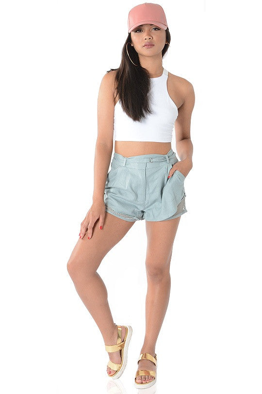 DOUBLE DIPPED LINEN SHORTS