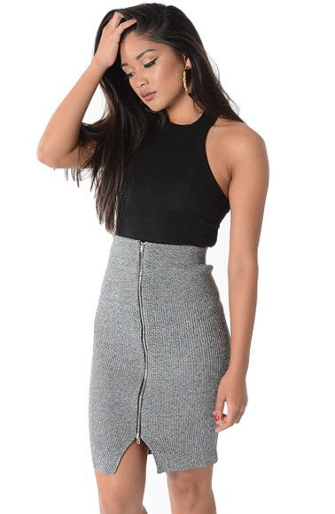 BAMBOO ZIPPED SKIRT
