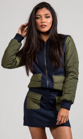 MILITARY JACKET + SKIRT SET