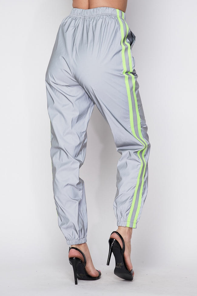 REFLECTIVE STRIPED JOGGERS