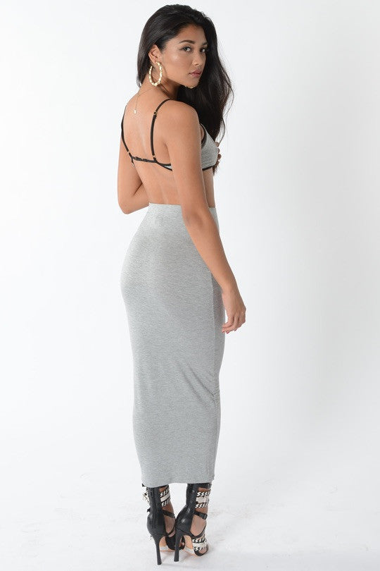 ATTI-TUBE SKIRT (HEATHER GREY)