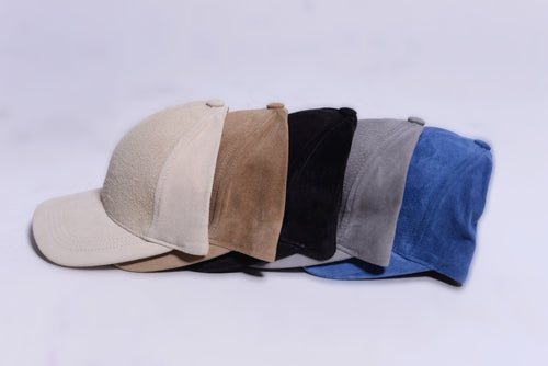 SUEDE BASEBALL CAPS
