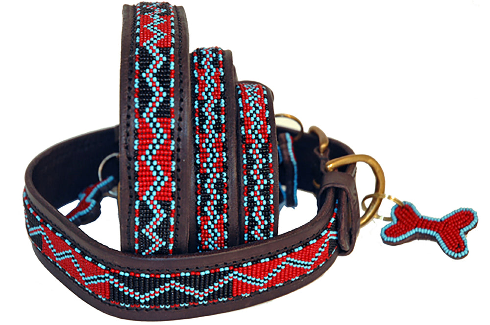 """Bushman"" Beaded Dog Collars"