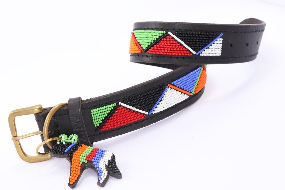 """Maasai"" Beaded Dog Collars"
