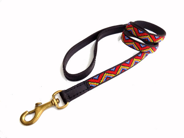 Load image into Gallery viewer, Medium Red Maasai Beaded Lead