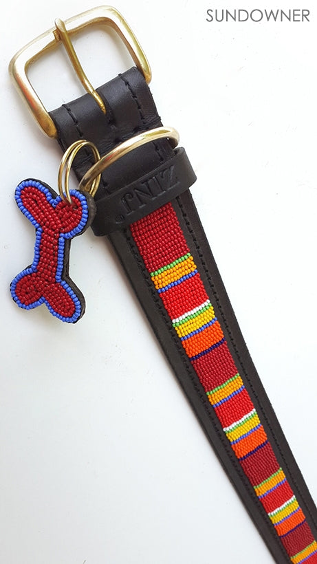 """Sundowner"" Beaded Dog Collars"