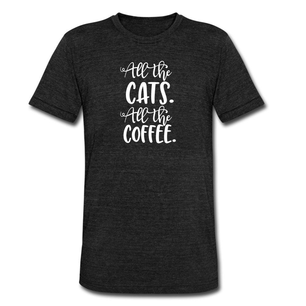 All the Cats. All the coffee Women's T-Shirt - heather black