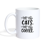 All the cats. All the coffee Coffee Mug - white