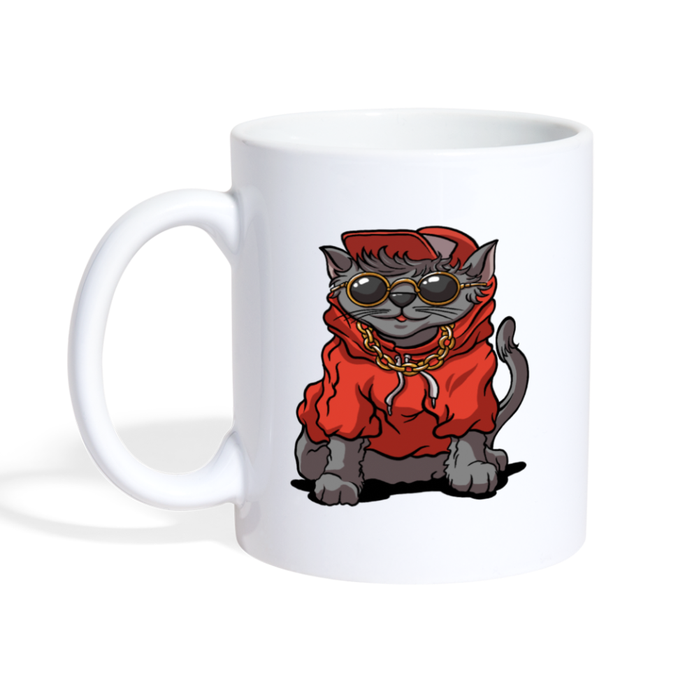 Dope Kitty Coffee Mug - white