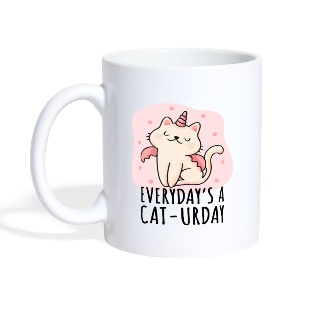 Everyday's a caturday Coffee Mug - white