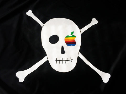 Canvas Pirate Flag (Hand Painted)