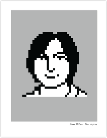 Steve Jobs 1983 on Gray Icon Print