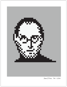 Steve Jobs 2011 on Gray Icon Print