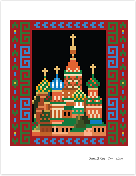 Red Square of Moscow Icon Print