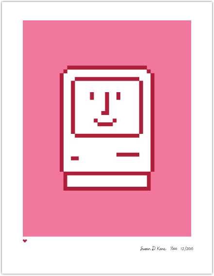 Happy Valentine on Pink Icon Print