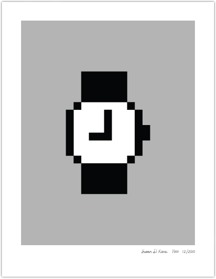 Macintosh Watch on Gray Icon Print