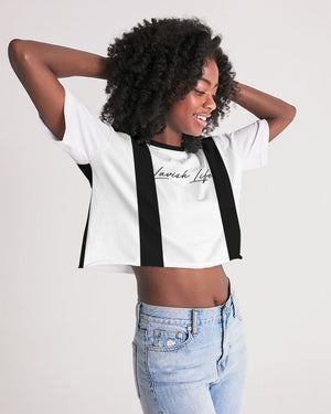Lounge Striped Cropped Tee