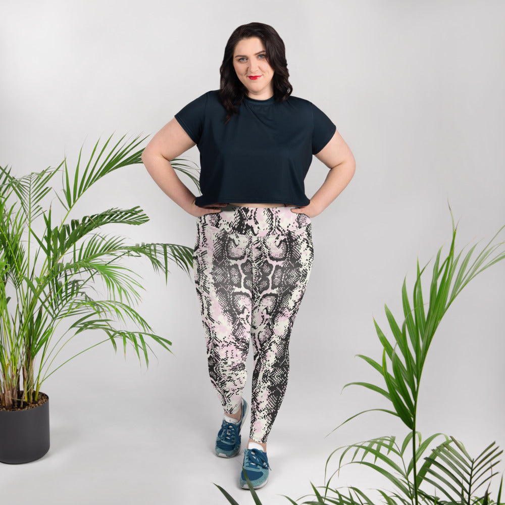 Lavish Plus Size Snake Leggings