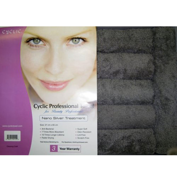 Nano Cyclic Microfiber Towel with Nano Silver Treatment (Charcoal)