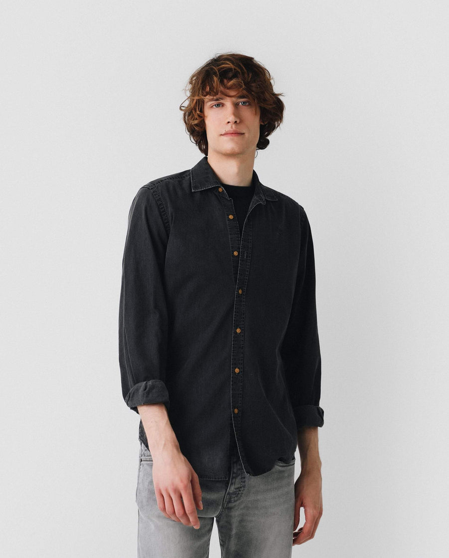CAMISA DENIM OSCURA
