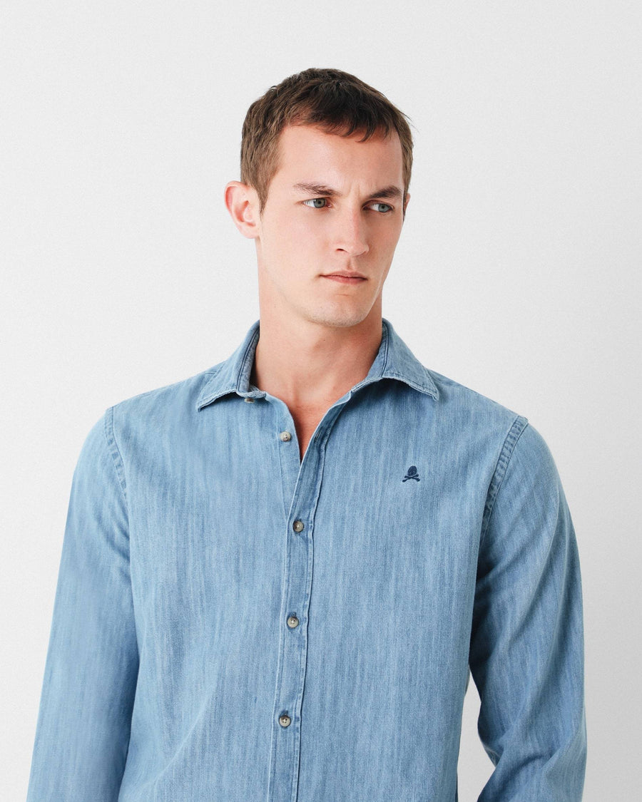 CAMISA DENIM SLIM FIT - Scalpers Company