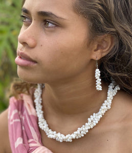 Mauna Kea White Shell Earrings