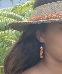 Ohi'a Lehua Red Shell Earrings