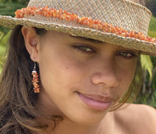 Load image into Gallery viewer, Ohi'a Lehua Red Shell Earrings