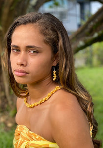 Liliko'i Yellow Shell Lei & Earring Set