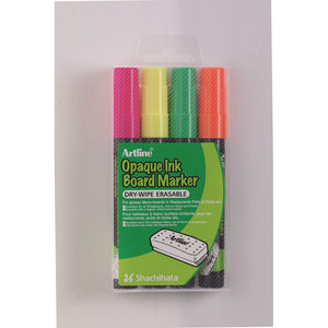 Whiteboard/glas Marker Opaque 2mm 4 stk. (Artline)