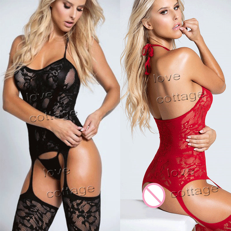 Fashion Sexy Lingerie Transparent Fishnet Underwear Babydoll Sexy Costumes Lingerie Porno Sex Erotic Sleepwear