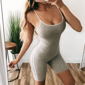 Open image in slideshow, Sexy Striped Yoga Jumpsuits Women Sports Tank Tops Sleeveless Workout Gym Fitness Leggings Pants Athletic Clothes