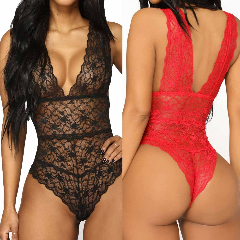 Plus Size Women Sleepwear Sexy Pajamas Lingerie Lace Nightwear Lingerie Sexy Hot Erotic Underwear Bobydolls Sexy Sleepwear