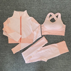 Open image in slideshow, Seamless  Women Yoga Sets Female Sport Gym suits Wear Running Clothes women Fitness Sport Yoga Suit Long Sleeve yoga clothing