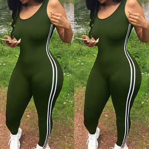 Open image in slideshow, Sexy Women Jumpsuit One Piece Sport Clothing Gym Running Fitness Legging Pants Sleeveless Romper Tracksuit Workout Clothes