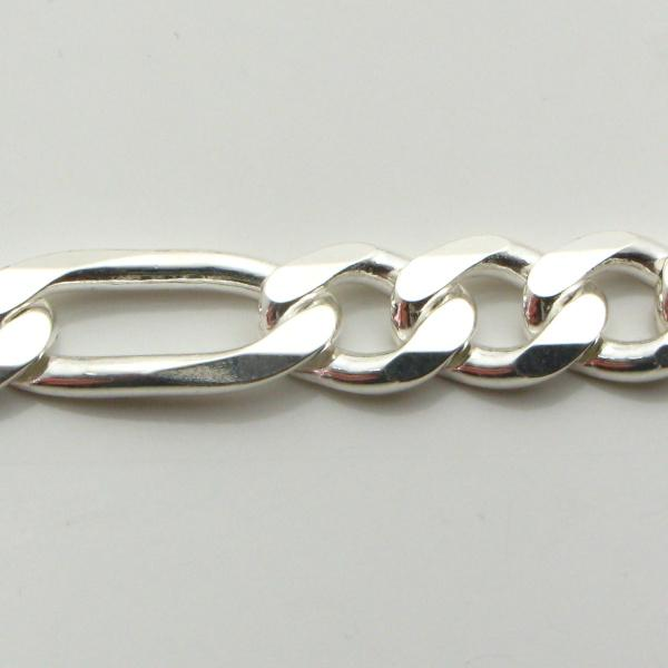 Silver 3+1 Figaro Chains 8.2mm wide 60cm