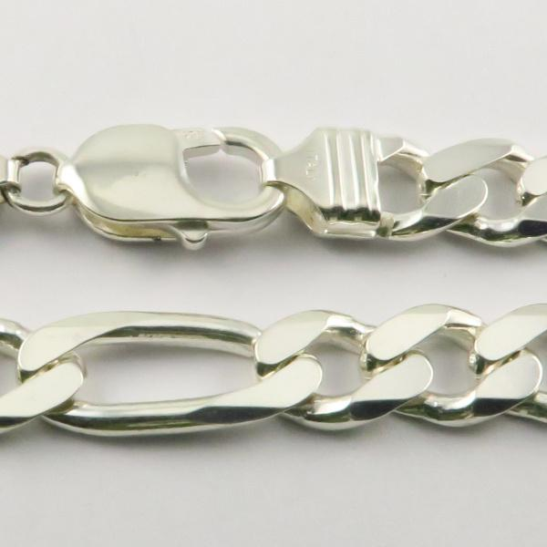 Silver 3+1 Figaro Chains 9.2mm wide 55cm