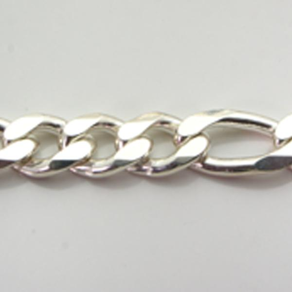 Silver 3+1 Figaro Chains 14.7mm wide 65cm